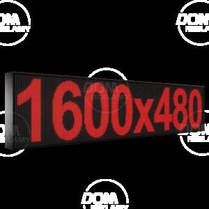 Wyświetlacz tekstowy LED 1600/480 (kolor czerwony)