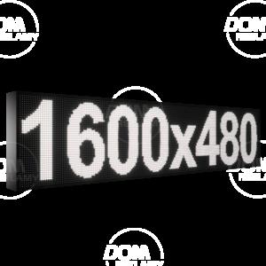 Wyświetlacz tekstowy LED 1600/480 (niebieski, żółty, biały, zielony)