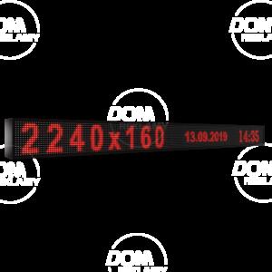 Wyświetlacz tekstowy LED 2240/160 (kolor czerwony)
