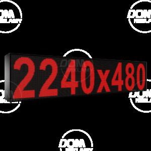 Wyświetlacz tekstowy LED 2240/480 (kolor czerwony)