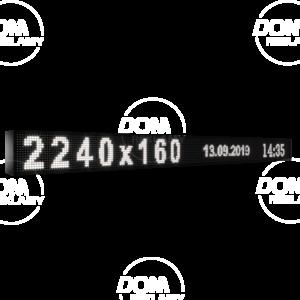 Wyświetlacz tekstowy LED 2240/160 (niebieski, żółty, biały, zielony)