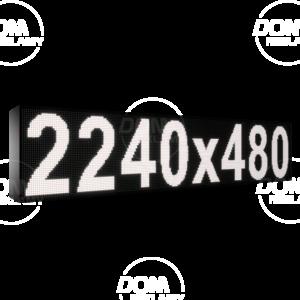 Wyświetlacz tekstowy LED 2240/480 (niebieski, żółty, biały, zielony)