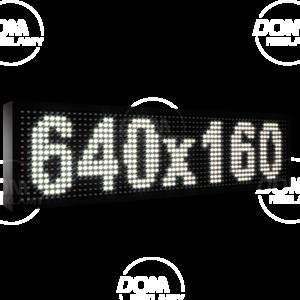 Wyświetlacz tekstowy LED 640/160 (niebieski, żółty, biały, zielony)