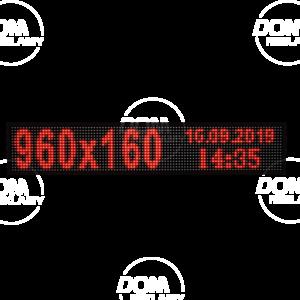Wyświetlacz tekstowy LED 960/160 (kolor czerwony)
