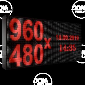 Wyświetlacz tekstowy LED 960/480 (kolor czerwony)