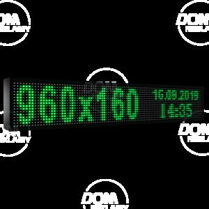 Wyświetlacz tekstowy LED 960/160 (niebieski, żółty, biały, zielony)