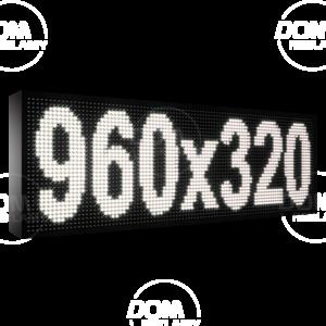 Wyświetlacz tekstowy LED 960/320 (niebieski, żółty, biały, zielony)