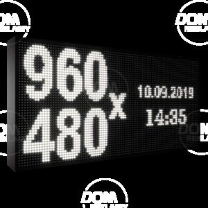 Wyświetlacz tekstowy LED 960/480 (niebieski, żółty, biały, zielony)