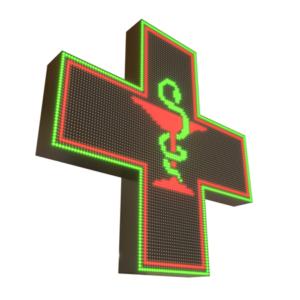 Krzyże apteczne LED