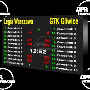 Tablica wyników sportowych LED. P6mm. Rozmiar 3072х2112mm. Wewnętrzna