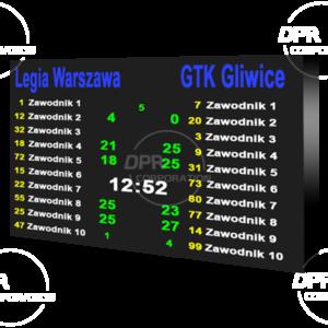 Tablica wyników sportowych LED. P6mm. Rozmiar 5568х3264mm. Wewnętrzna