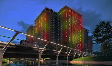 Oświetlenie LED elewacji budynków