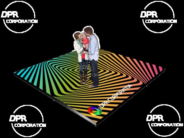 Interaktywna podłoga LED P6.25 RGB