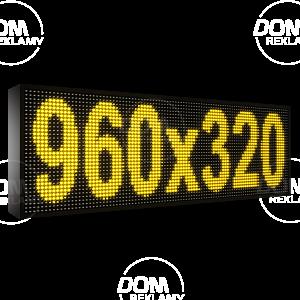 Wyświetlacz tekstowy LED 960/320 czerwony+zielony=żółty