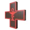 Krzyż apteczny reklama LED 96x96cm czerwony jednostronny