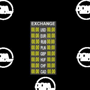 Tablica do wymiany walut pełnokolorowa P6mm LED 384x1152 Zewnętrzna