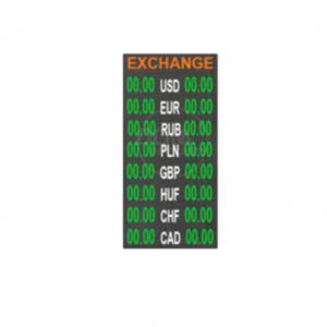Tablica do wymiany walut pełnokolorowa P6mm LED 384x1152 Wewnętrzna