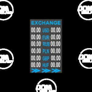 Tablica do wymiany walut pełnokolorowa P6mm LED 384x960 Zewnętrzna