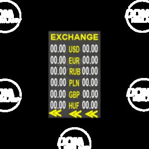 Pełnokolorowa tablica do wymiany walut P6mm LED 384x960 Wewnętrzna