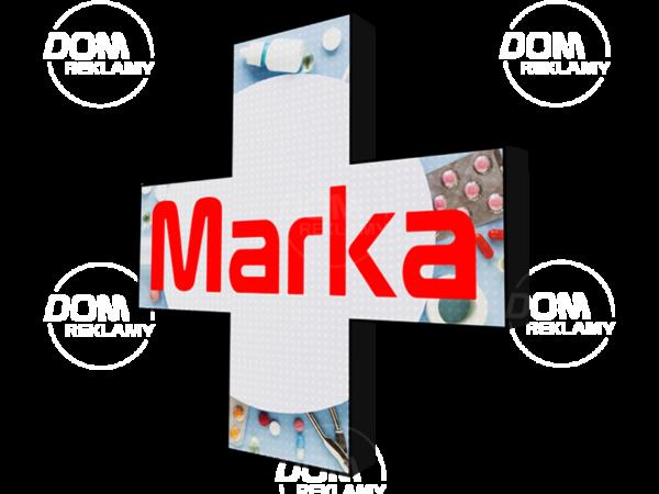 Krzyż apteczny 576x576mm P6 RGB, 2-stronny, wewnętrzny