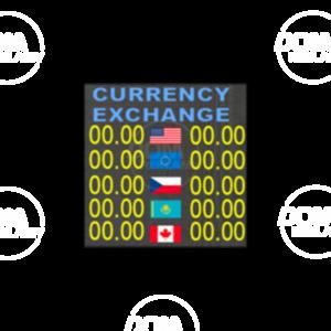 Tablica walutowa pełnokolorowa P6mm LED 576x576 Wewnętrzna