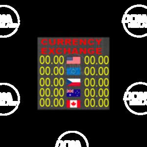 Tablica do wymiany walut pełnokolorowa P6mm LED 576x576 Zewnętrzna