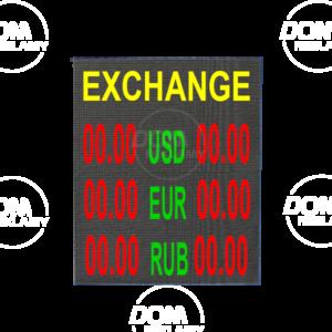 Tablica walutowa LED DPR 640/640 czerwona + zielona = żółta (RG)