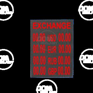 Tablica walutowa LED DPR 640/800 w kolorze czerwonym
