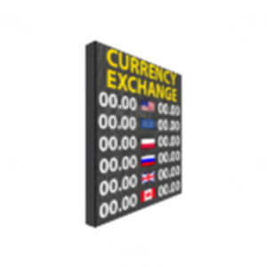 Pełnokolorowa tablica wymiany walut P10mm LED 960/1280