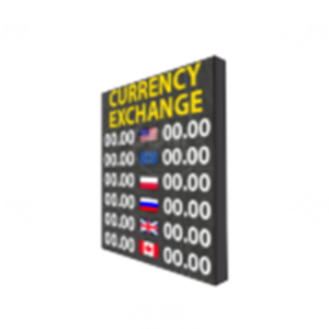 Tablice walutowe LED